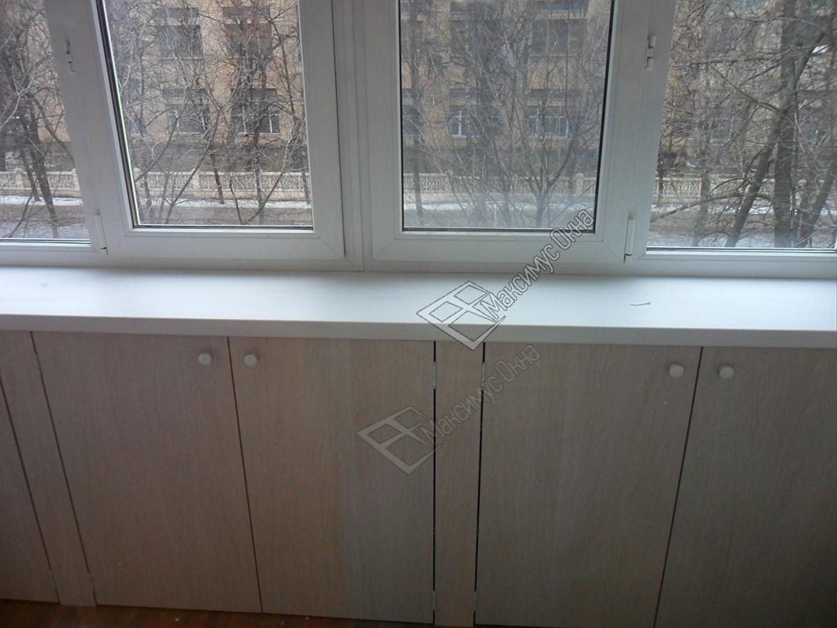 Подоконников встроенные шкафы на балконе фото.